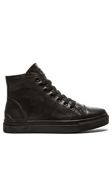 ANINE BING High Top Leather Sneakers in Black
