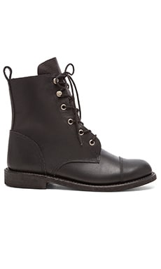 ANINE BING Combat Boots in Black