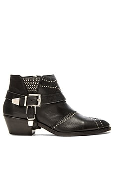 Studded Boots with Buckles in Silver