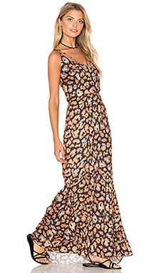 Jaguar Maxi Dress en Navy Jaguar Print