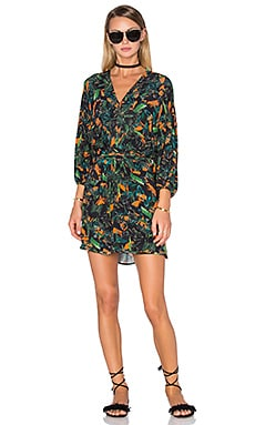 Tropical Long Sleeve Dress