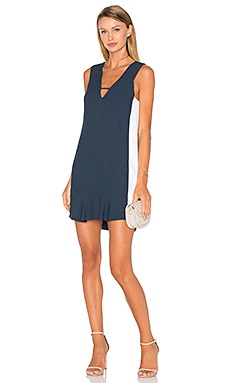 ANIMALE Colorblock Dress in Navy & White