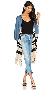 Fringe Cardigan in Blue