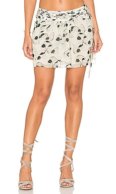 Wing Mini Skirt en Imprimé Ailes de Papillon