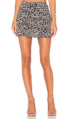 ANIMALE Flounce Skirt in Polka Print
