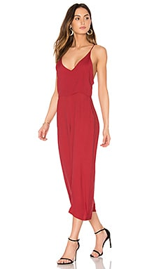 Wide Leg Jumpsuit in Wine