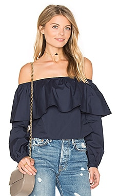 Exposed Shoulder Top in Marine