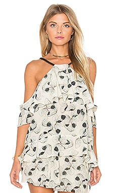 Wing Cold Shoulder Top in Wing Print