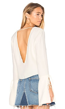 Bell Sleeved Blouse in Grauweiß