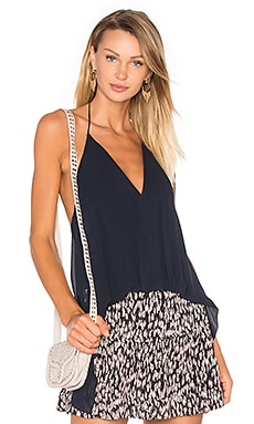 Open Back Halter Top in Navy