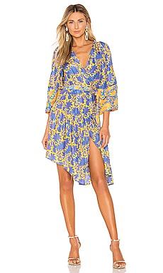 Short Bougainvillea Wrap Dress APIECE APART $525