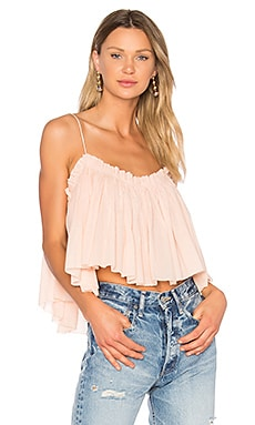 Sanna Cropped Cami in Pink Quartz