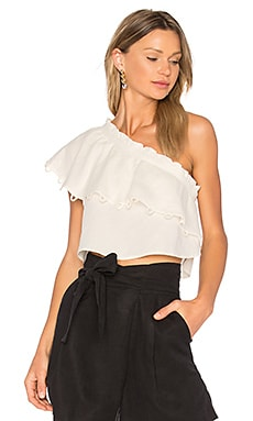 Zahar One Sleeve Top en Crème