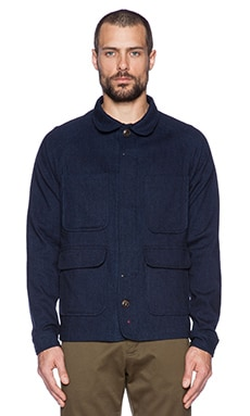 Apolis Wool Chore Jacket in Indigo