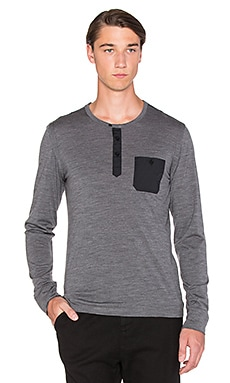 Apolis Merino Wool Henley in Charcoal