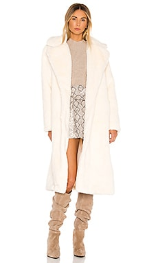 Mona Faux Fur Coat Apparis $280