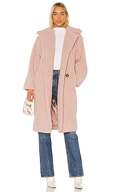 Daryna Faux Shearling Coat Apparis $173