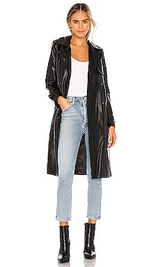 Lucia Vegan Leather Trench Apparis $380