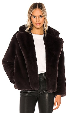 Manon Faux Fur Coat Apparis $295 NEW ARRIVAL