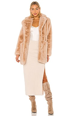 Sophie Faux Fur Coat Apparis $325