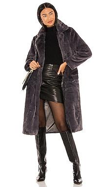 Mona Faux Fur Coat Apparis $144 Sustainable