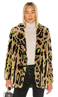 Chloe Faux Fur Coat Apparis $390