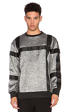AQ/AQ Asger Sweatshirt in Steel