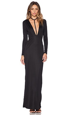 AQ/AQ Strike Maxi Dress in Black