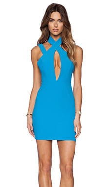 AQ/AQ Simmer Mini Dress in Jewel Blue