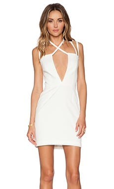 AQ/AQ Rocha Mini Dress in Cream
