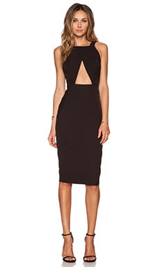 AQ/AQ Killer Midi Dress in Black