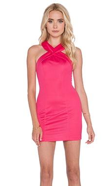 AQ/AQ Siren Mini Dress in Lipstick Pink