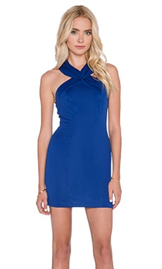 AQ/AQ Siren Mini Dress in Morrocan Blue