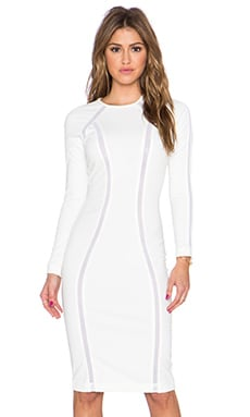 AQ/AQ Discipline Midi Dress in Cream