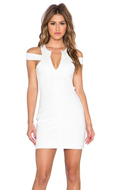 AQ/AQ Vesper Mini Dress in Cream