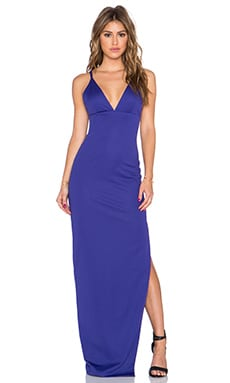 AQ/AQ Hard Maxi Dress in Mezarine Blue