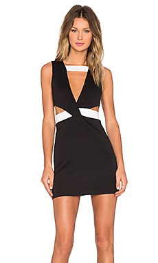 AQ/AQ Etyiam Mini Dress in Black