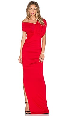 AQ/AQ Drazma Maxi Dress in Cherry Red