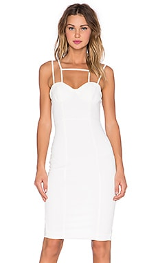 AQ/AQ Starlet Midi Dress in Cream