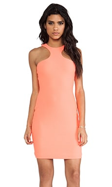 AQ/AQ Mix Mini Dress in Pink Grapefruit