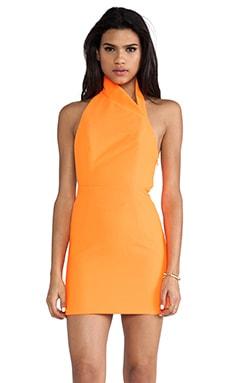 Hannah Mini Dress in Acid Orange