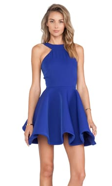 AQ/AQ Tiara Mini Dress in Surf The Web Blue