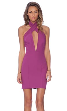 AQ/AQ State Mini Dress in Hyacinth Violet