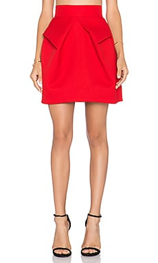 Magnate Mini Skirt in Cherry Red