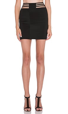 AQ/AQ Dash Mini Skirt in Black