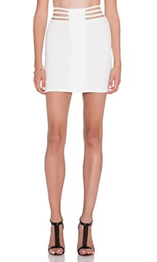AQ/AQ Dash Mini Skirt in Cream