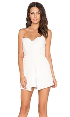 AQ/AQ Ivon Playsuit in Cream