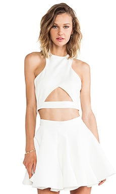 AQ/AQ Monica Crop Top in Cream