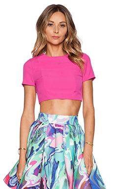 AQ/AQ Evan Crop top in Night Life Pink