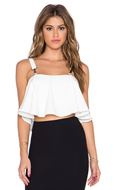 Highlife Crop Top in Cream